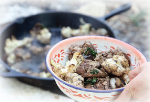 Chicken Liver In a Pan