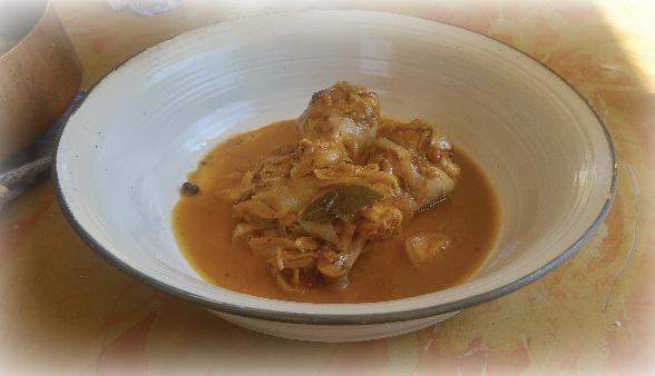 אוסובוקו עוף אורגני בבירה ובצל