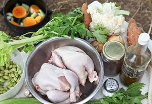 Whole Organic Chickens in a Poyke Pot